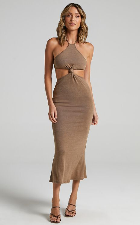 Shania Dress in Brown