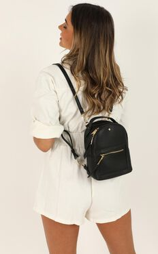 Peta and Jain - Zoe Mini Backpack In Black Pu