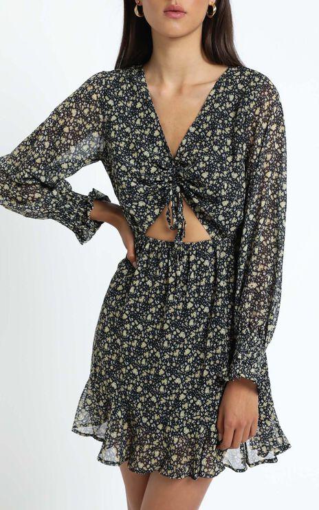 Farrow Dress In Black Print