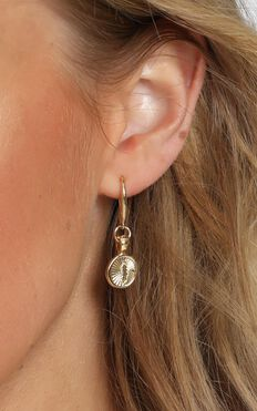 Minc Collections - Feather Hook Earrings In Gold