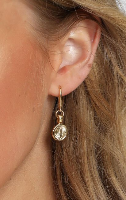 Minc Collections - Feather Hook Earrings In Gold, , hi-res image number null