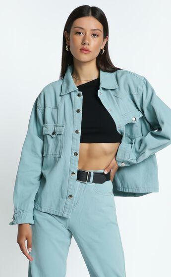 Alyssandra Denim Jacket in Sage