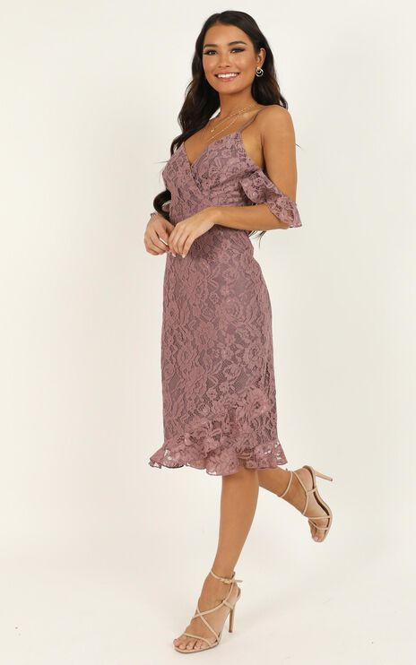 How Could You Forget About Me Dress In Mauve Lace