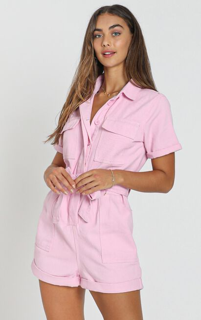 Kade Playsuit in pink - 8 (S), Pink, hi-res image number null