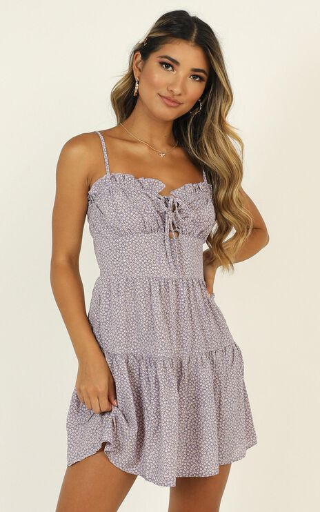 Taste Of Summer Dress In Lilac Floral