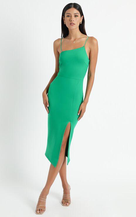Geri Strappy Dress in Green