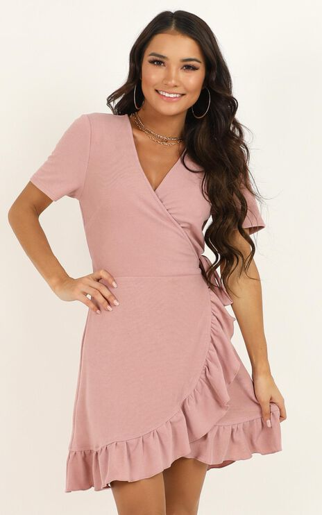 This Is Happening Dress In Blush