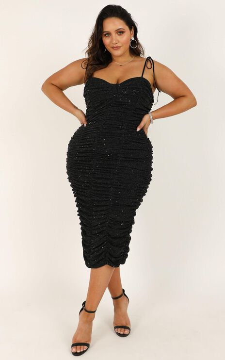 Thats Right Dress In Black Lurex