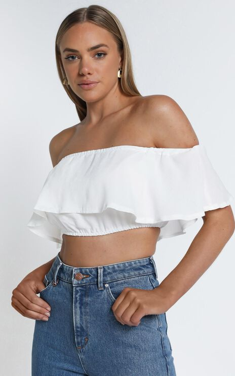 Favourite Thing Crop Top In White