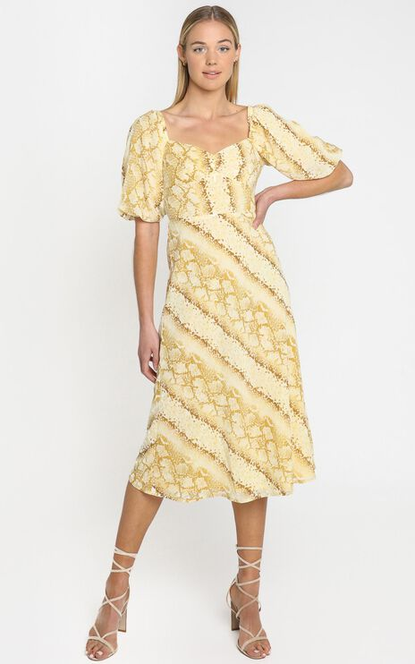 Lulu & Rose - Cali Midi Dress in Snake