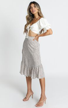 Wild Life Skirt In White Leopard
