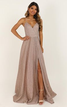 Climb A Mountain Maxi Dress In Blush