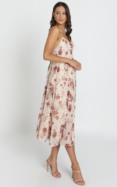 Driving Away dress in cream floral - 16 (XXL), Cream, hi-res image number null