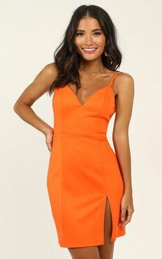 Lets Unwind Dress In Tangerine