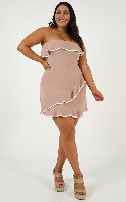 Looking Forward Dress in mocha - 14 (XL), Mocha, hi-res image number null