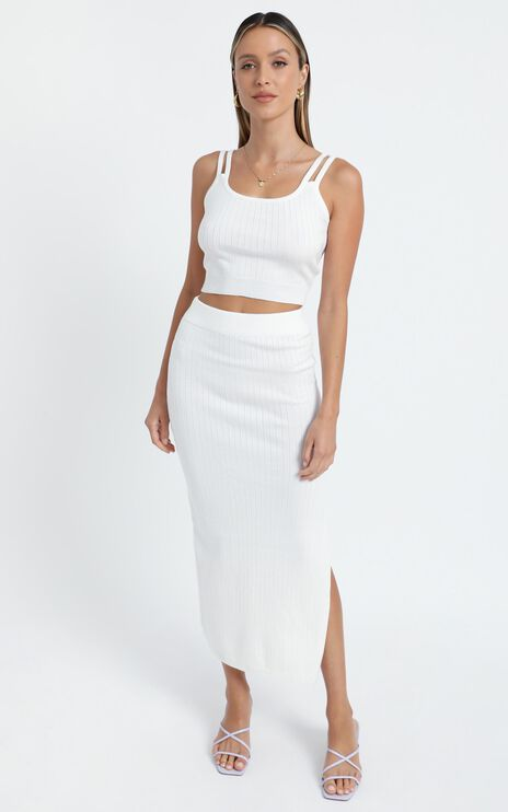 Yuna Two Piece Set in White