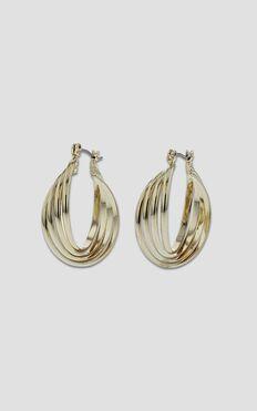 Jolie & Deen - Josephine Hoop Earrings In Gold