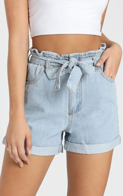 Another Language Shorts In light blue denim - 14 (XL), Blue, hi-res image number null