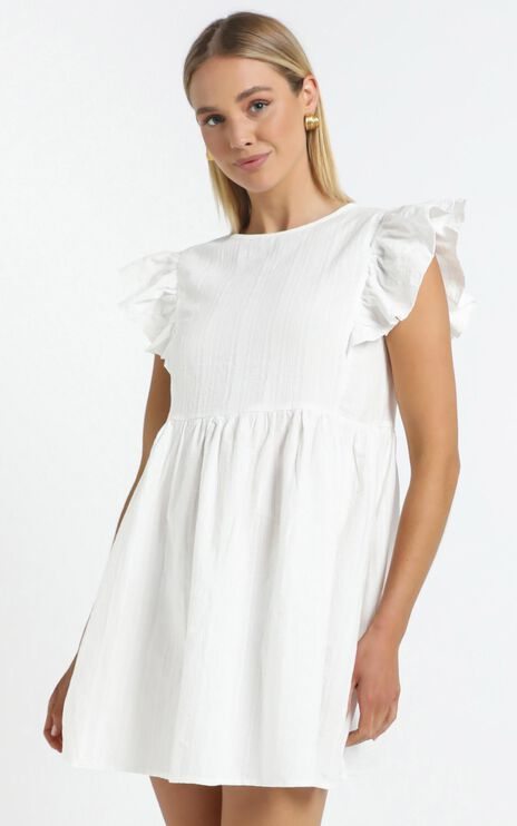 Lenny Dress in White