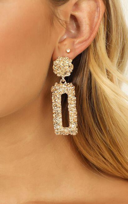 Kingdom Builder Earrings In Gold, , hi-res image number null
