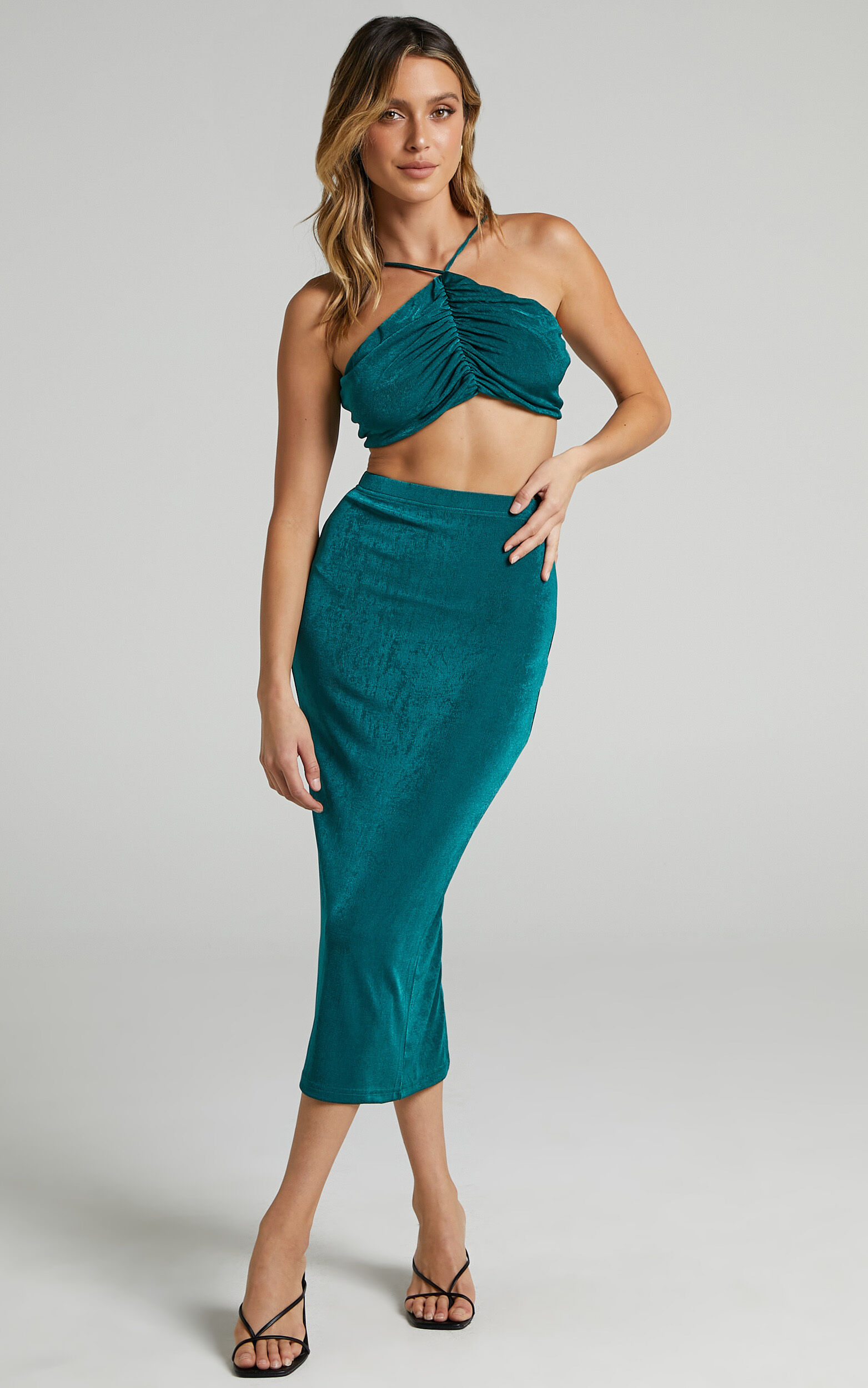 She.Is.Us - On Demand Skirt in Emerald - L, GRN1, super-hi-res image number null