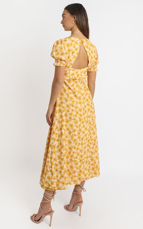 Our Paradise Dress in sunflower print