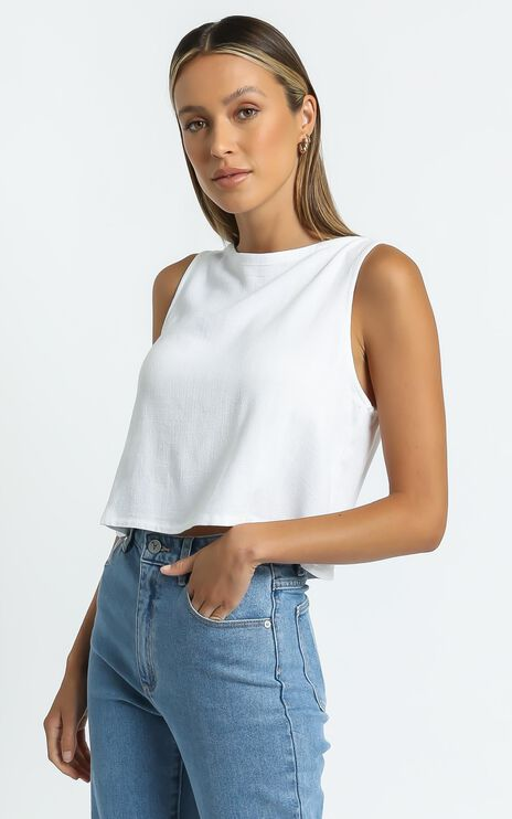 Hands On Deck Top in White