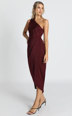 Felt So Happy Dress In Wine