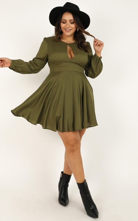 Clean And Clear Dress In Khaki