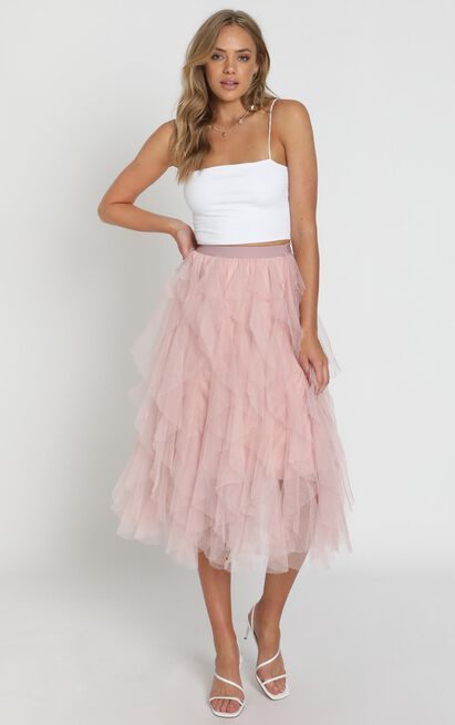 Out Of The Conversation skirt in blush - M/L, Blush, hi-res image number null