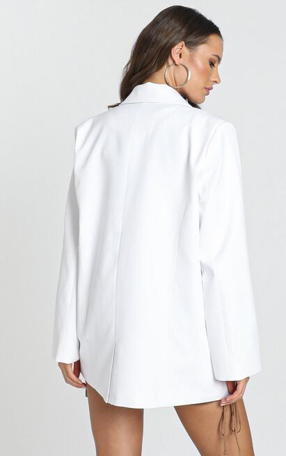Lioness - In the Air Tonight Oversized Blazer in white - 12 (L), White, hi-res image number null