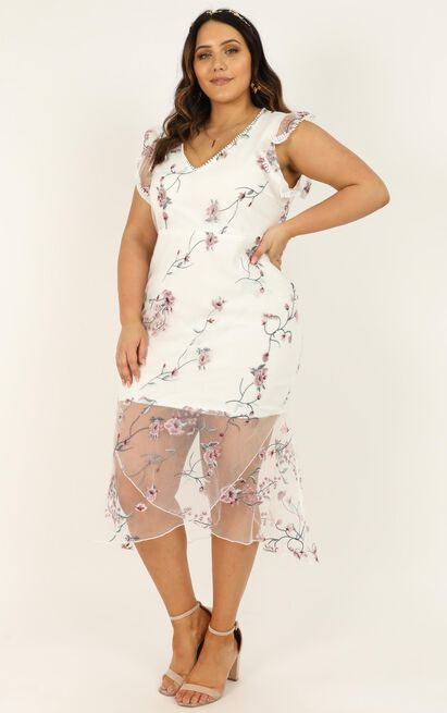 Remember The Days Dress in white embroidery - 20 (XXXXL), White, hi-res image number null