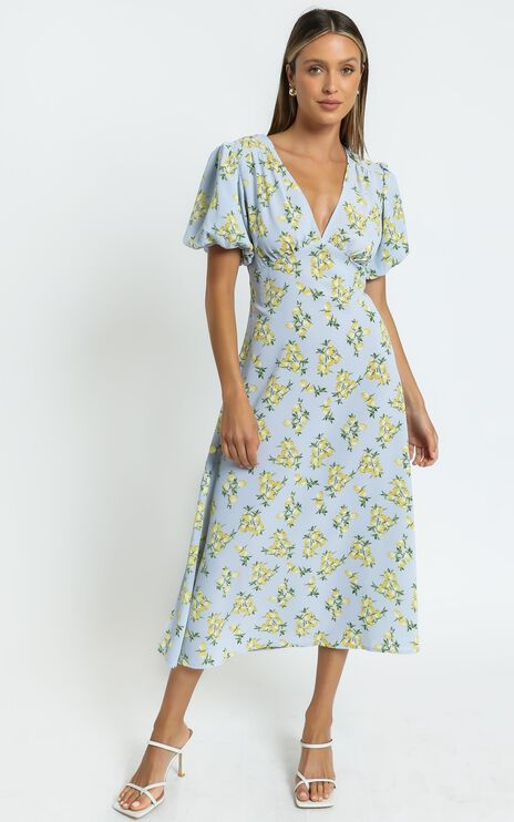 Illinois Dress in Blue Floral