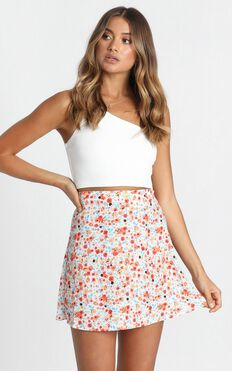 Running Away Skirt In Multi Floral
