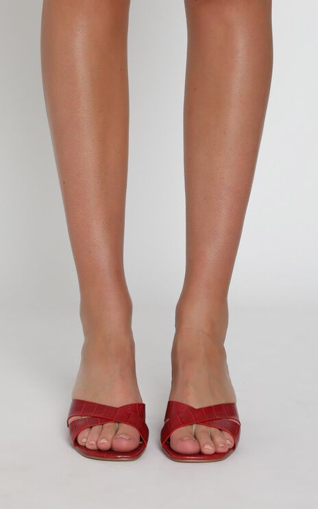 Billini - Yowie Heels In Red Croc