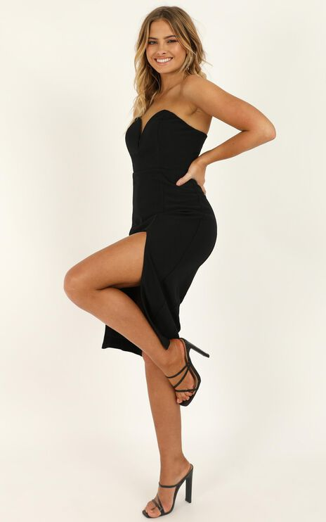 Lost Now Found Dress In Black