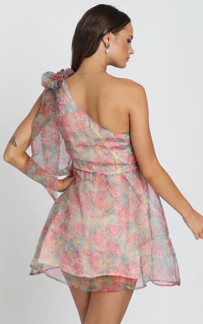 Weekend Dreaming Dress in pink floral - 12 (L), Pink, hi-res image number null