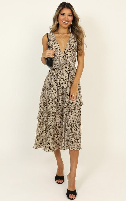 Allow The Space dress in leopard print - 14 (XL), Brown, hi-res image number null