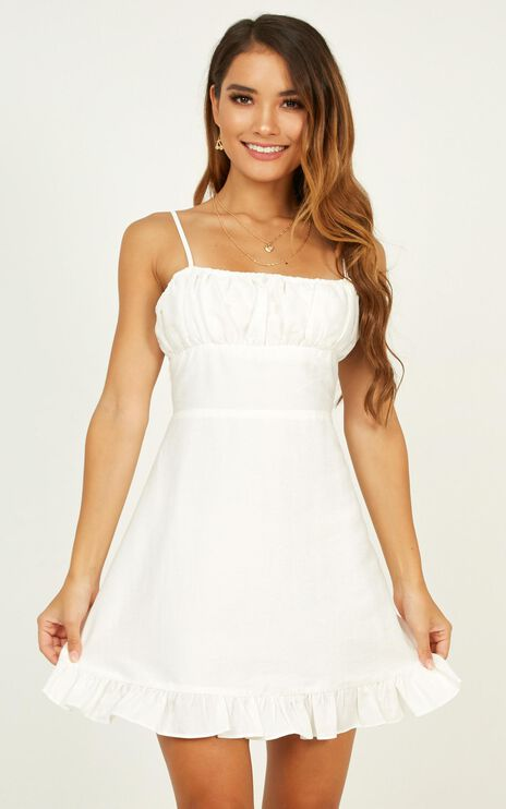 Melting Hearts Dress In White