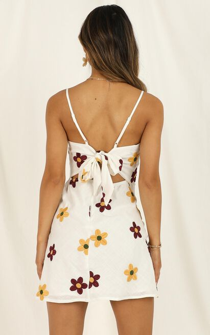 Back To The Ocean dress in white print - 12 (L), White, hi-res image number null