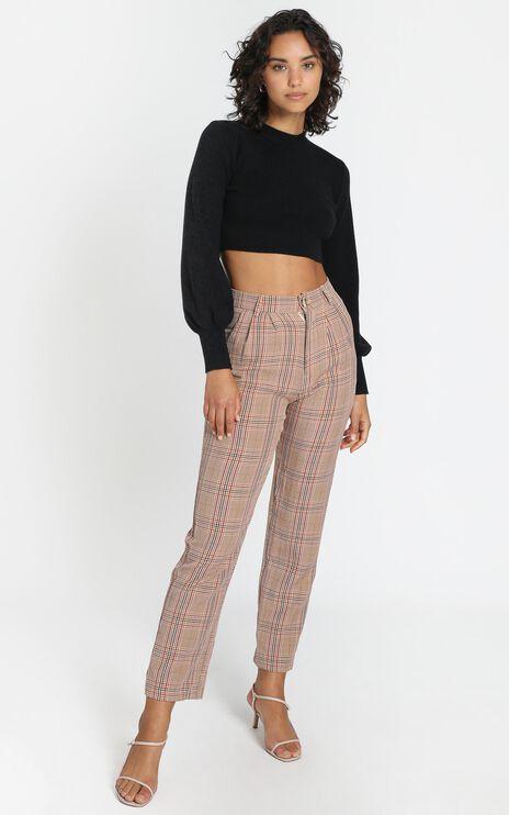 Laila Pants in Blush Check
