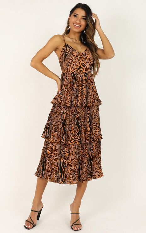 In The Wilderness Dress In Animal Print