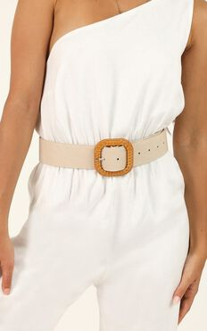 Just You And I Belt In Nude And Natural