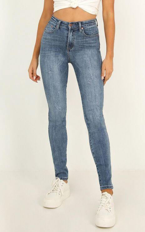 Charley Jeans In Dark Wash Denim