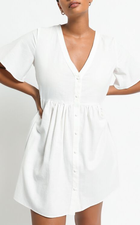 Staycation Dress in White