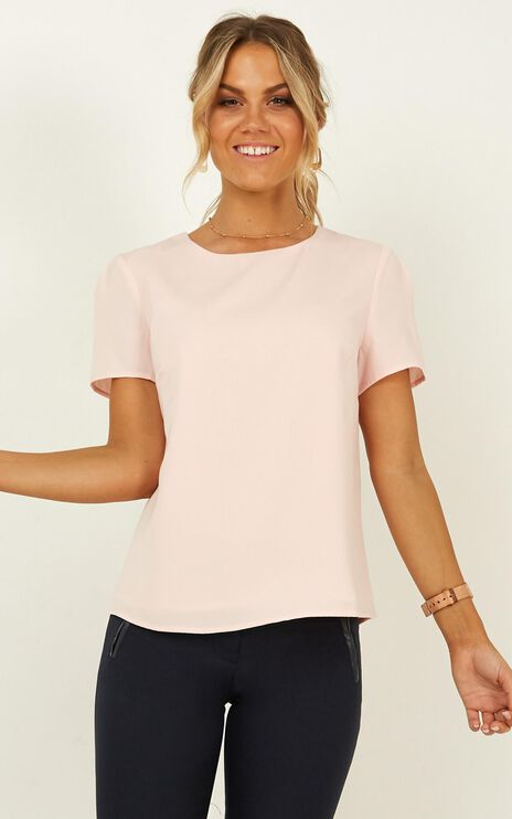 Looking Into It Top In Blush