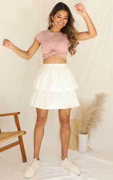 Catch The Breeze Skirt In White