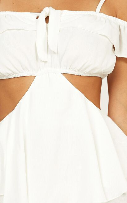 Frill Of Life Dress in white - 20 (XXXXL), White, hi-res image number null