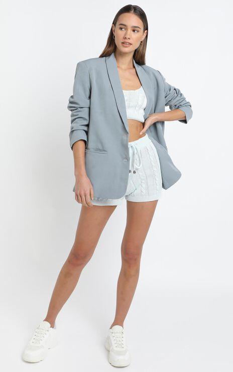 Celinna Knit Top in Grey