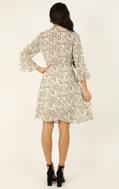 In your wildest dreams dress in snake print - 14 (XL), Beige, hi-res image number null